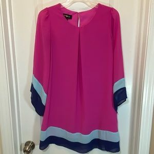 Amy Byer Shift Dress with Wide Sleeves